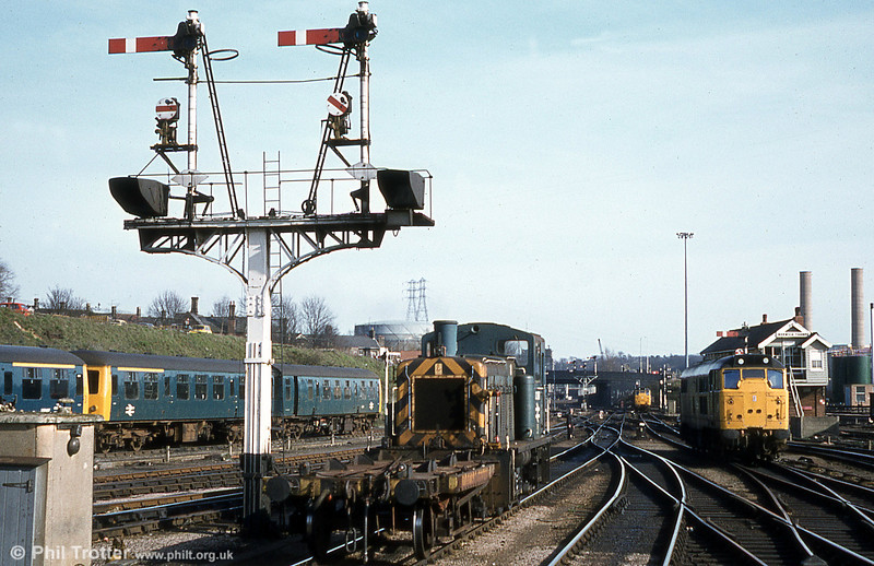 A busy scene at Norwich, with 03397 and a match truck acting as station pilot on 28th March 1981. The former D2397 was withdrawn in July 1987 and cut up by Berry, Leicester early in 1991.