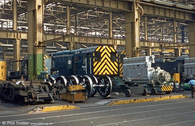 08354 undergoing maintenance at Swindon Works, 1981.