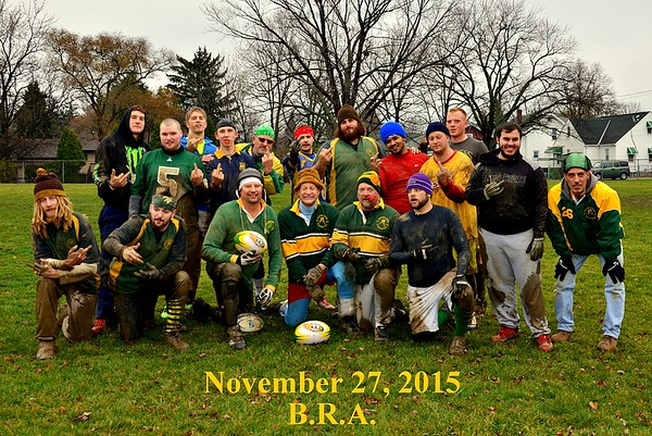 B.R.A. Annual Rugby Turkey Bowl Match 11-28-2015
