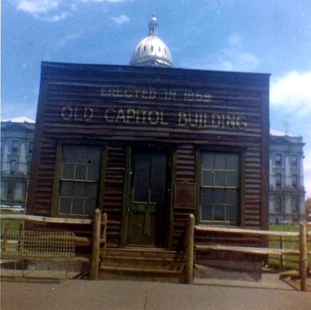 The new Colorado Capital (sitting behind this old one) was built on the stone that Jake Bramwell helped bring in from the surrounding mountains at the age of 9 when he ran away from home in Indiana.