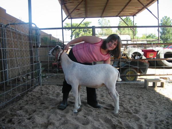 Bev's granddaughter Savannah and her 4-H goat