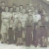 Adults left to right: Lee Turner, Muriel Bramwell, Minnie Castle-Bramwell, Carl Bramwell, Lois Bramwell-Kinser, Virginia Amyx-Bramwell, Gram/Hattie Fisk-Bramwell, Ernest Bramwell, Guinn Kinser, Sid Dutton, Carl Dutton, Pat Dutton, Beryl Bramwell-Dutton. Children in front - left to right: Leonard Kinser, Joan Turner, Little Lynn Bramwell, two Kinsley kids raised by Beryl. (Photo owned by Opel Bramwell-Turner, taken by Opel Bramwell-Turner. Family members identified by Opel Bramwell-Turner & Beverly Turner-Leas.)