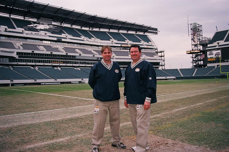 Jimmy and Troy at the Philadelphia Stadium<br />                          March 20, 2004