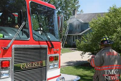 BASEMENT FIRE HITS RUSSIA ROAD HOME