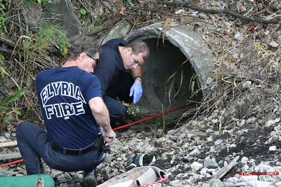 BOY RESCUED FROM DRAINAGE PIPE IN ELYRIA