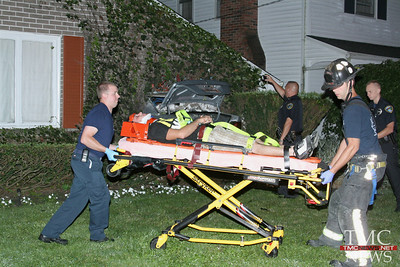 CAR SLAMS INTO HOUSE ON COLGATE IN ELYRIA