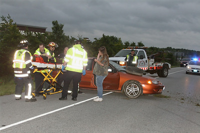 CRASH ON 57 TAKES DOWN LIGHT POLE