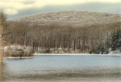 snow capped my: Black Rock forest NY