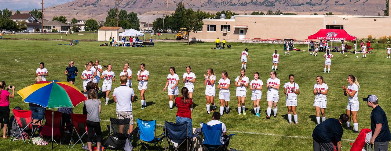 BRHS Girls Soccer VS Ben Lomond Team Panorama-