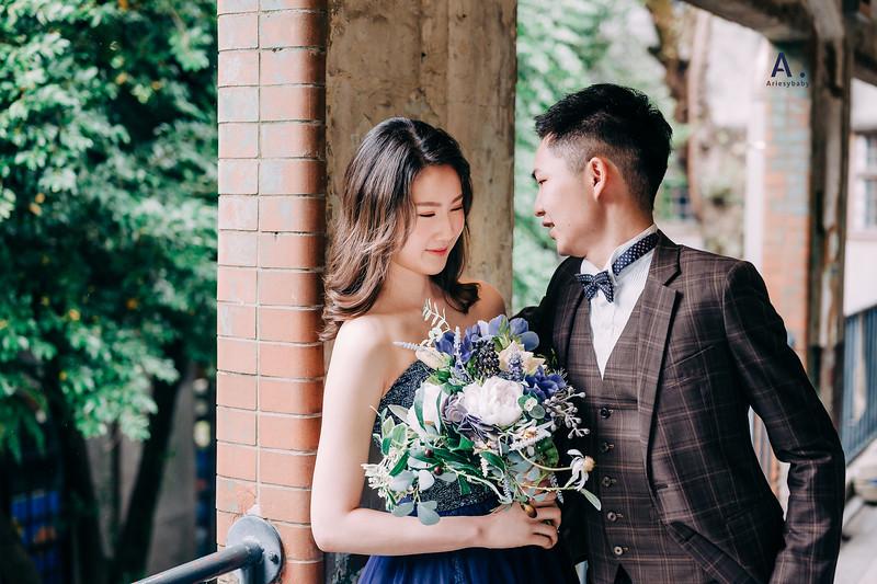 新娘秘書,婚紗造型,新莊婚紗包套,台北婚紗包套,藍色禮服造型,放髮造型