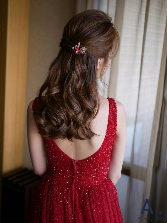 清透妝感,氣質新娘造型,韓系造型,歐美線條
