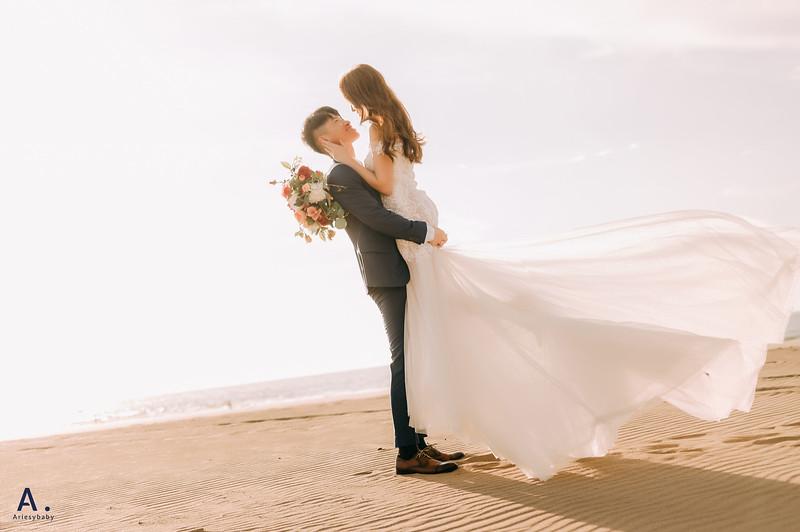 美式婚紗,新娘秘書,馬尾造型,時裝新秘,時裝婚紗,沙崙海灘,婚紗包套,新莊婚紗