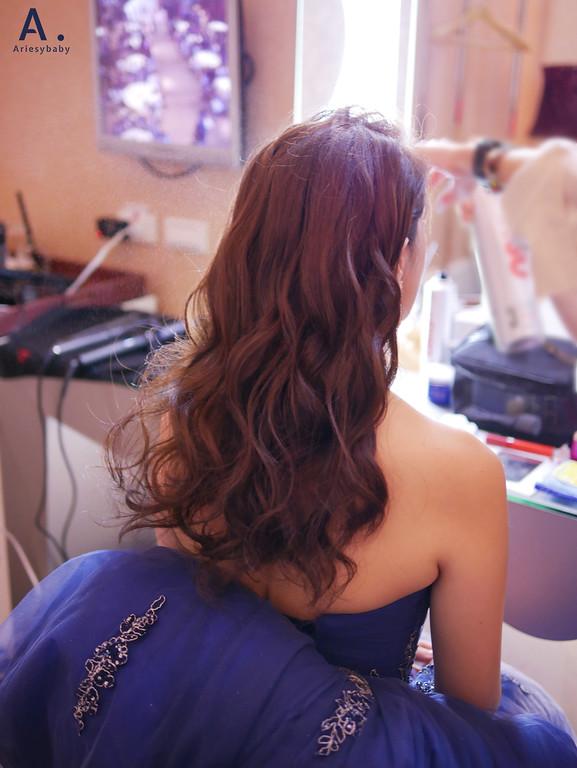 台北新秘,清透妝感,歐美新娘造型,送客造型,放髮造型