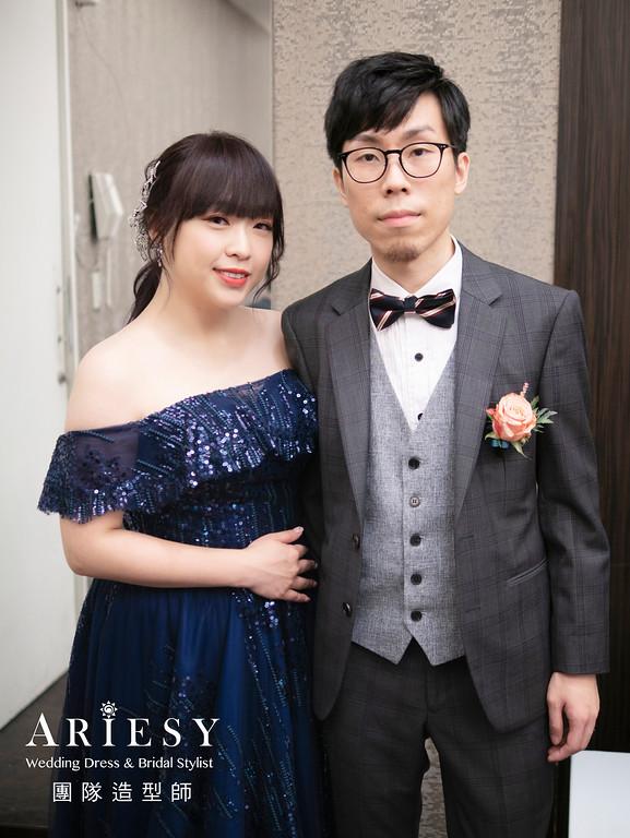 新娘秘書、鮮花新秘、花藝造型、蓬鬆盤髮造型、蓬鬆公主頭造型