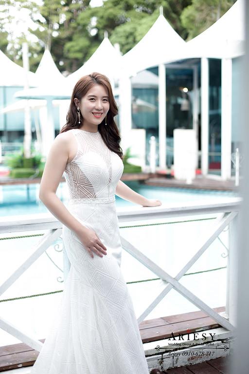 戶外婚禮,戶外證婚,美式婚禮,韓風新娘造型,白紗新娘造型,名媛新娘造型