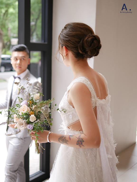 自然清透,韓系妝感,短髮新娘,台北新秘,新秘推薦