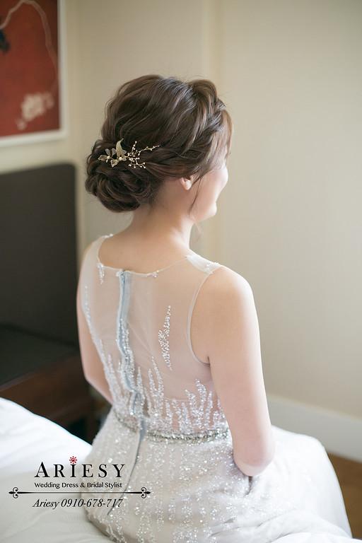 清透妝感,氣質新娘造型,編髮新娘造型,ariesy,氣質編髮