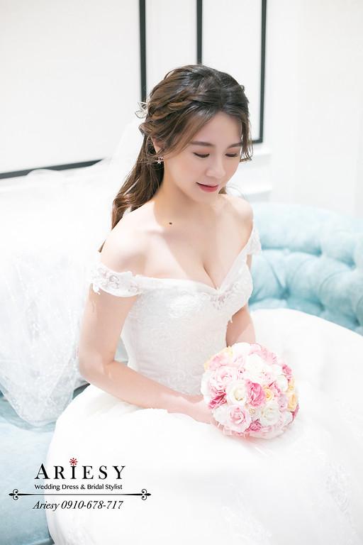 韓系新娘造型,韓風新娘妝髮,愛瑞思,ariesy,新娘白紗造型,新秘推薦