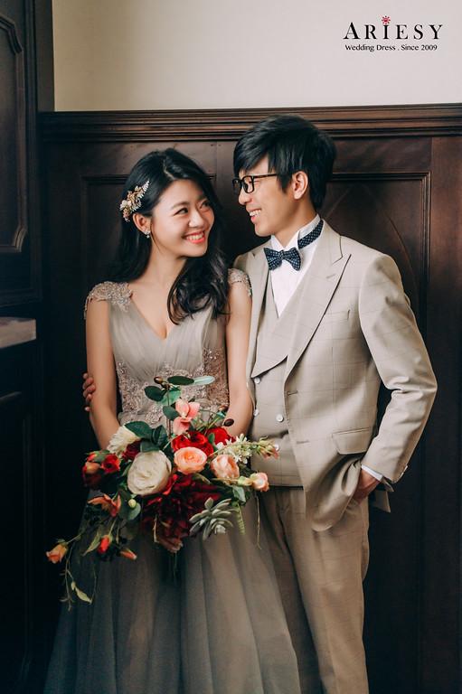 婚攝大嘴,婚紗包套,禮服出租,好拍市集,灰色系晚禮服,新秘Ariesy團隊