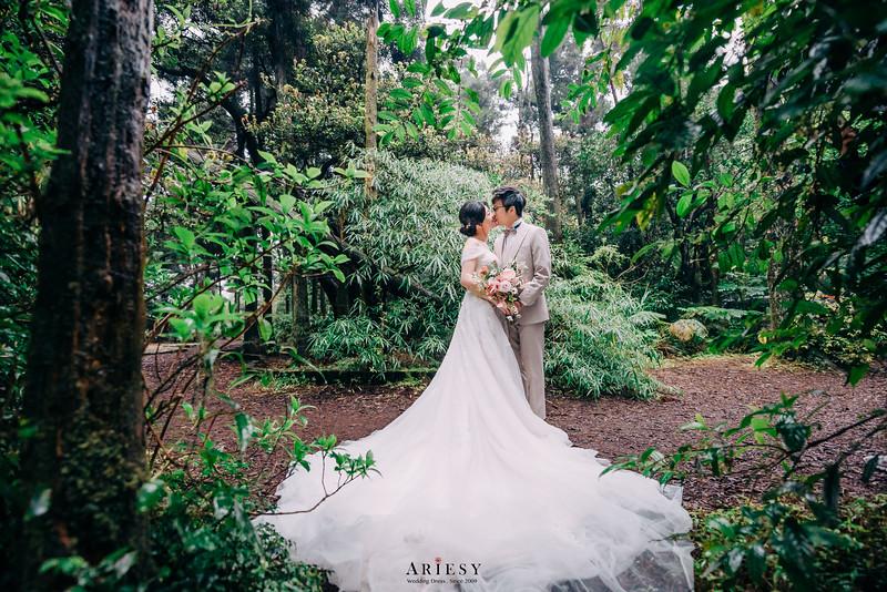 婚攝大嘴,婚紗包套,禮服出租,黑森林,A-line白紗,新秘Ariesy團隊