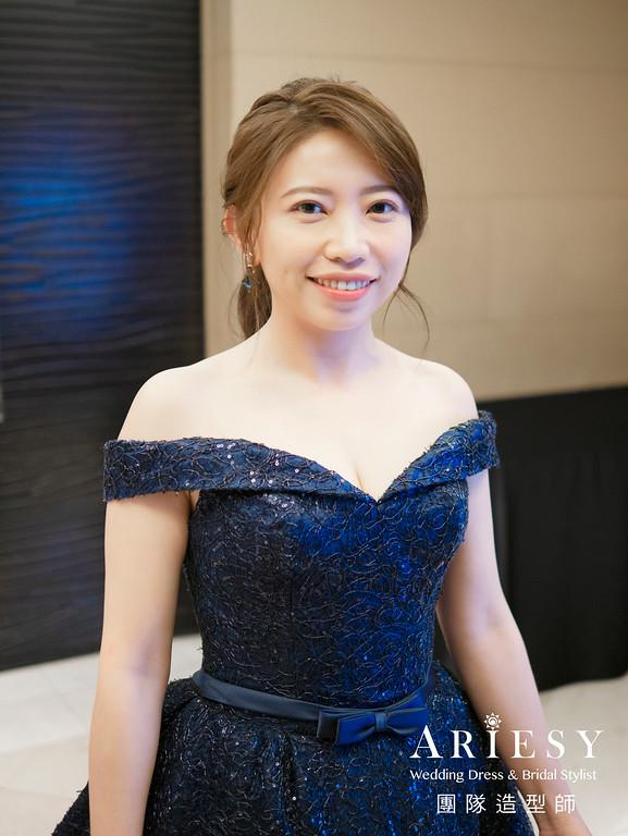 韓系風格,編髮造型,低馬尾造型,自然妝感,國賓飯店
