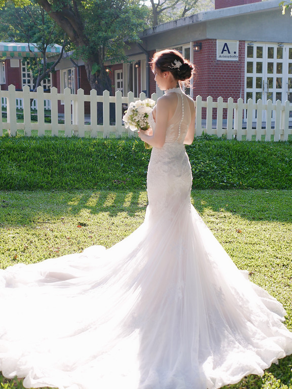 新娘秘書,美式婚禮,歐美新娘,蓬鬆盤髮造型,1956Vintage,陽明山美國渡假村