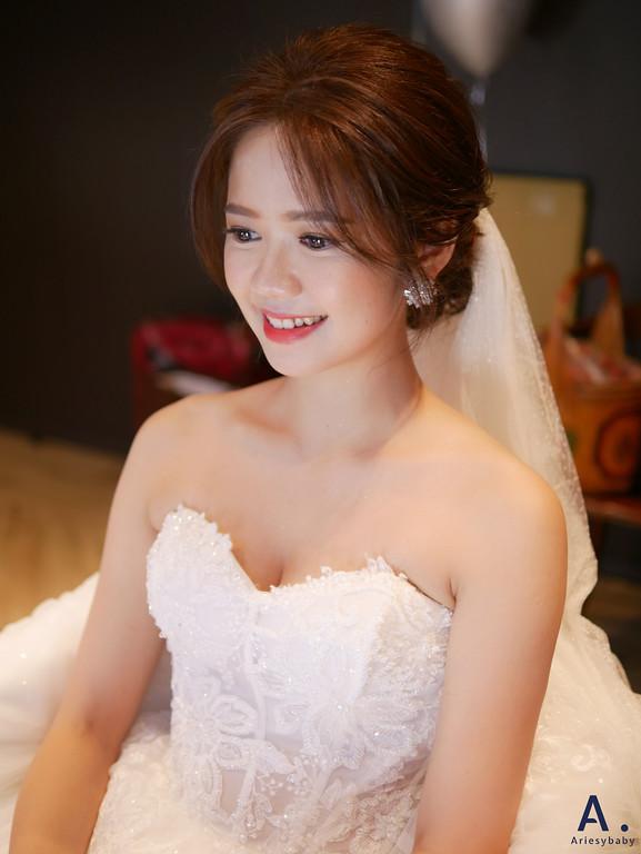 宜蘭新秘,清透妝感,歐美新娘造型,證婚造型,白紗造型
