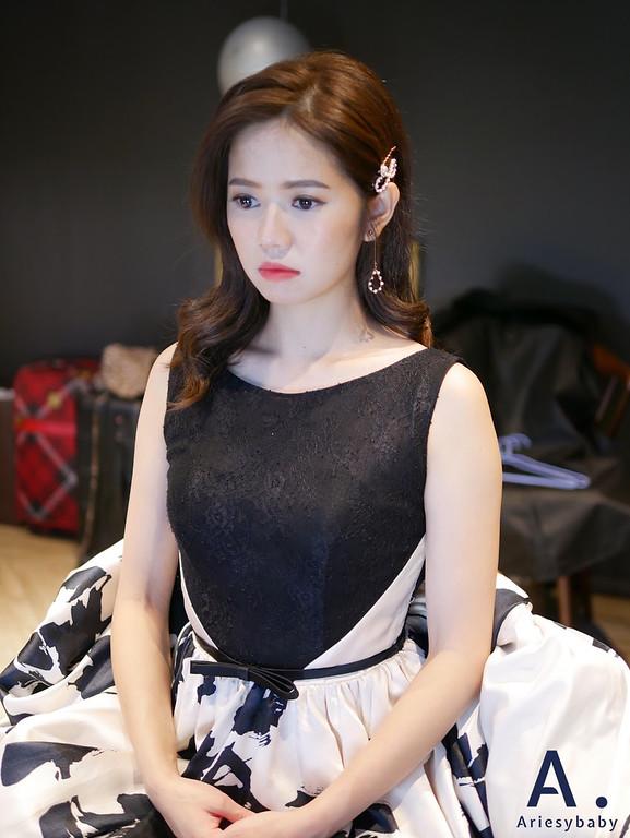 宜蘭新秘,清透妝感,歐美新娘造型,送客造型,韓系放髮,時裝感造型
