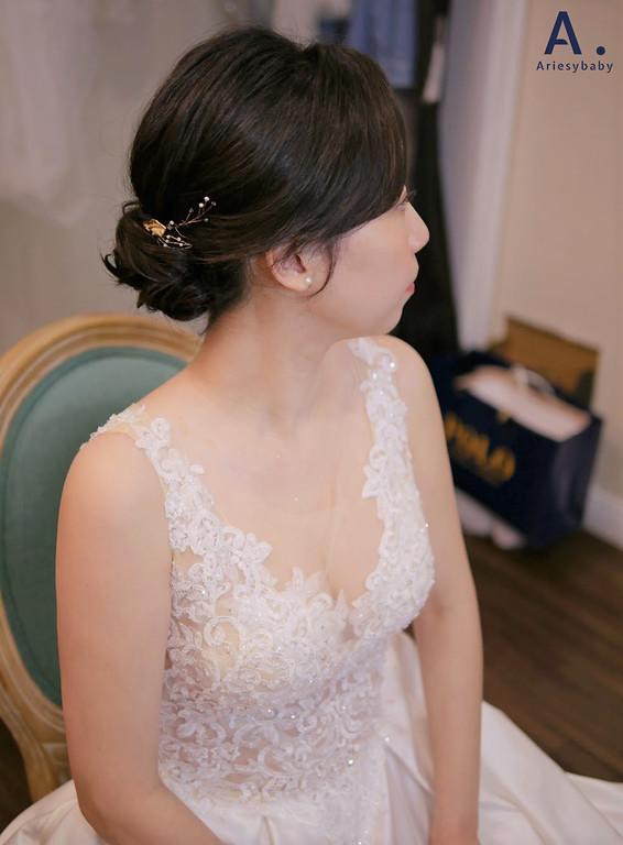 韓風新娘造型,時裝造型新秘推薦,台北新秘,韓系妝感,清透妝感,新板彭園婚禮