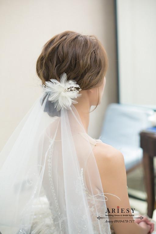 萬豪酒店婚宴,新秘推薦,蒂米琪婚紗,ARIESY,進場白紗造型,美式新娘造型