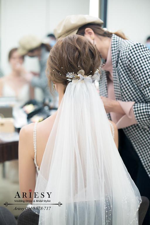 萬豪酒店證婚,新秘推薦,愛瑞思,ARIESY,白紗造型,美式新娘造型