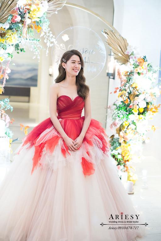 蒂米琪婚紗,萬豪酒店婚宴,新秘推薦,ARIESY,送客造型,美式新娘造型