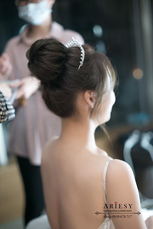 新娘秘書,台北新秘,林莉婚紗禮服,皇冠新娘造型,白紗新娘髮型,晶華酒店婚禮