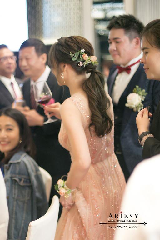 新娘秘書,林莉婚紗禮服,新秘推薦,鮮花新娘造型,敬酒新娘髮型,晶華酒店婚禮
