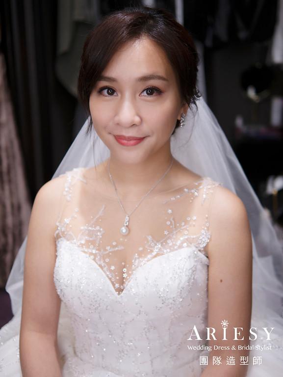 自然清透新娘妝感、新娘造型、歐美編髮新娘髮型,新娘髮型,美式婚宴