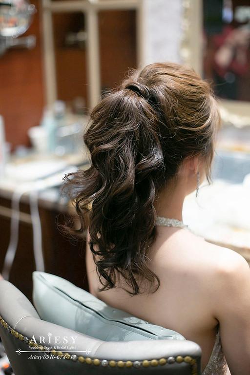 敬酒新娘造型,愛瑞思,ARIESY,台北新秘,維多麗亞酒店,新娘秘書