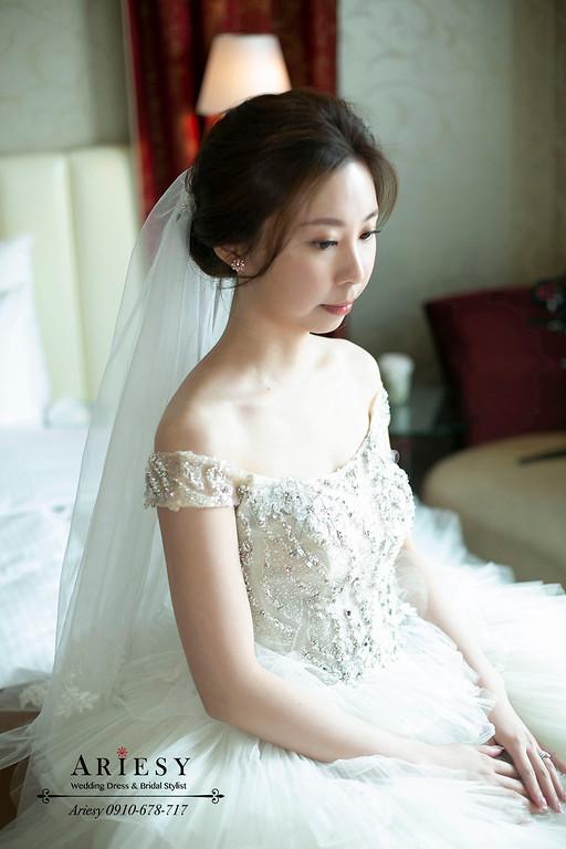 迎娶新娘造型,愛瑞思,ARIESY,台北新秘,維多麗亞酒店,新娘秘書