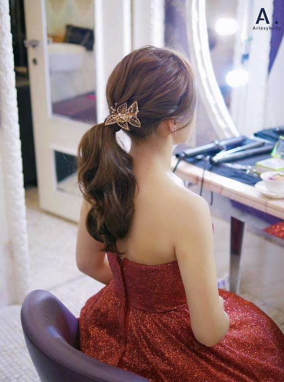 台北新秘,清透妝感,文定新娘髮型,編髮造型,敬酒造型,新莊典華