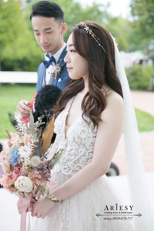心之芳庭證婚,台中新秘,戶外證婚新娘妝髮,愛瑞思,ariesy,新秘推薦