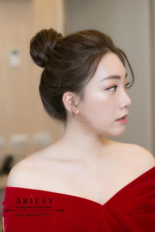 韓風新娘清透妝感,韓風新娘造型,愛瑞思,ariesy,新娘文定造型,新秘推薦