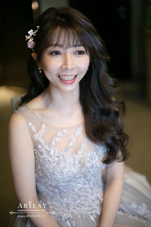 送客新娘髮型,新娘髮長,新秘造型,台北萬怡婚宴,台北新秘,ariesy,愛瑞思