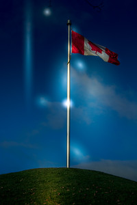 Canadian Flag on flag pole