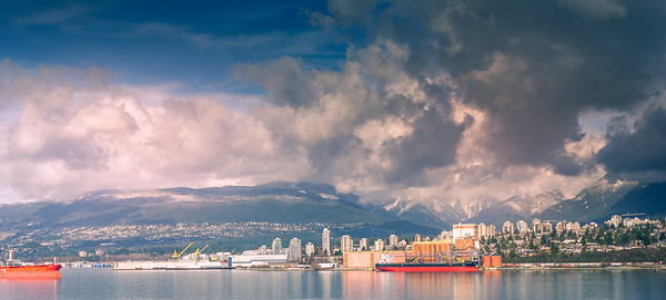 Vancouver Harbour and Northshore Mountains