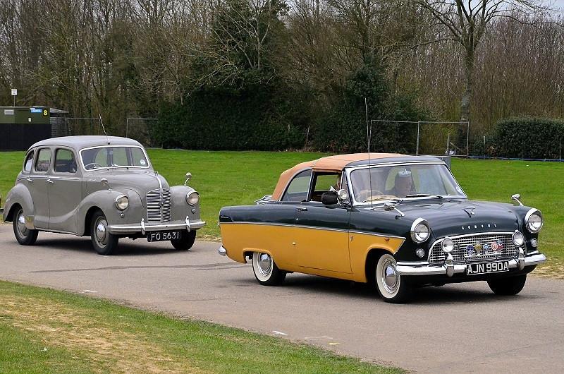 FO 5361 A40 DEVON 1949 & AJN 990A CONSUL
