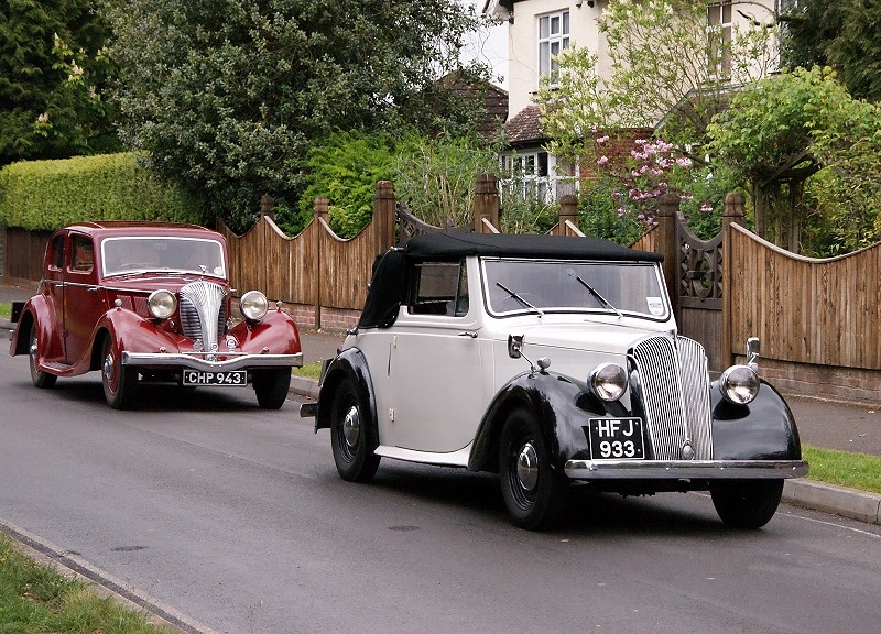 HFJ 933 STANDARD FLYING 8 DROPHEAD COUPE 1948 & TRIUMPH