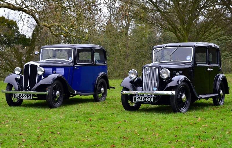 BAD 601 AUSTIN 10/4 1936 & DS 6523 STANDARD 9 1934