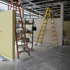 Oct. 22, 2010: Color going on the walls. Ceiling tiles and ceiling grid installing.