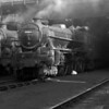 Black Five 44866 is caught in dramatic sunlight in October 1957.