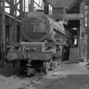 46207 Princess Arthur of Connaught under the coaling stage at Camden in April 1953.