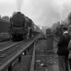 45521 Rhyll, one of the Ivatt rebuilds of the Patriot Class in 1946, ascends Camden bank in April 1953 watched by members of the Railway Photographic Society.